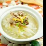 桔皮土鸭萝卜汤